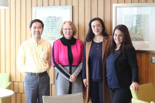 Successful Alumnus and involved volunteer meets with ENV team in Hong Kong