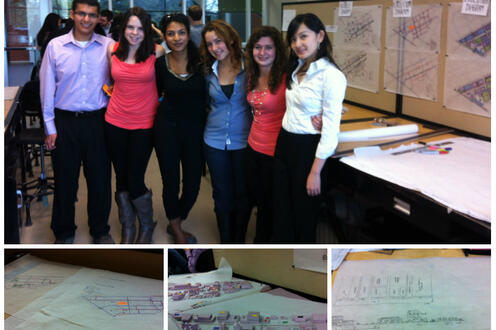 Students and their planning projects