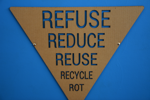 the 5 R's: Refuse Reduce Reuse Recycle Rot