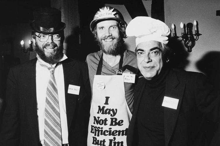 Dr. Gordon Nelson, Peter Brother, and Dr. Peter Nash wearing costumes