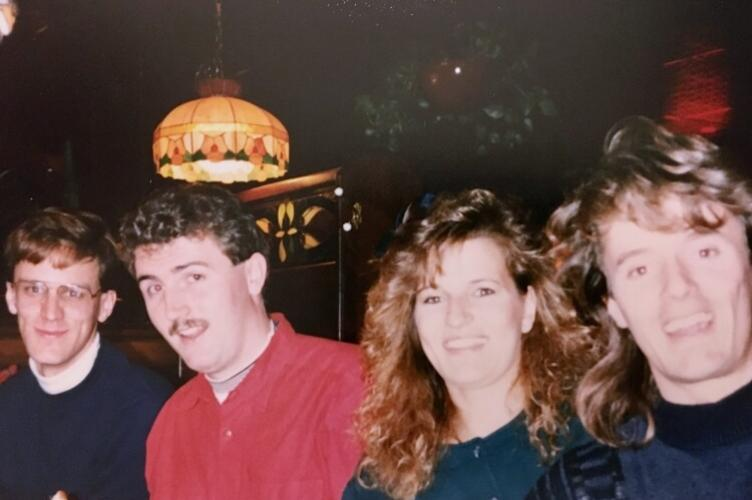 Four university students from the late 80s