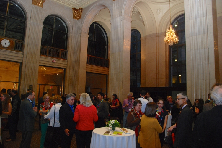 Guests in the Grand Bank Hall of One King West
