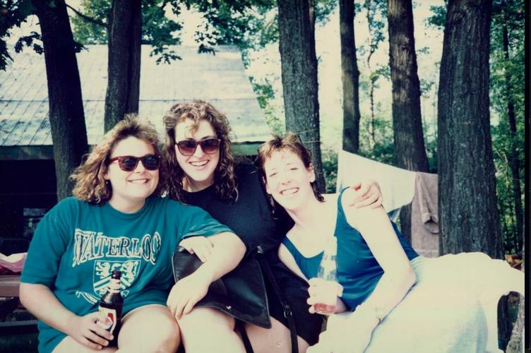 Three planning students, circa 1990