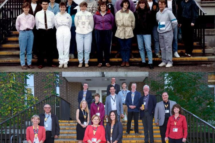 Recreating a class photo 25 years later