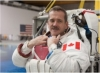 Hadfield in a space suit