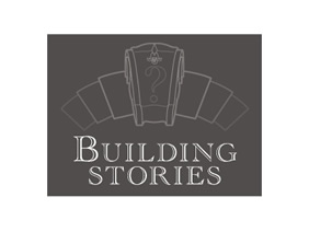 "Logo in grey reading ""Building stories."""