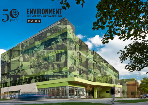 Environment 3 building with a collage of images of the members of our community