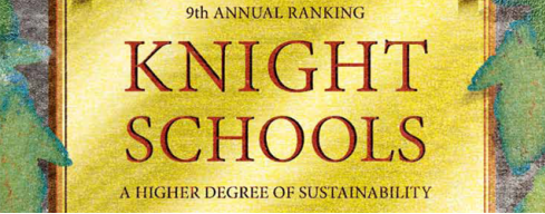 Illustrated Plaque that says Knight Schools