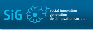 "Blue logo reading ""SiG - Social Innovation Generation."""