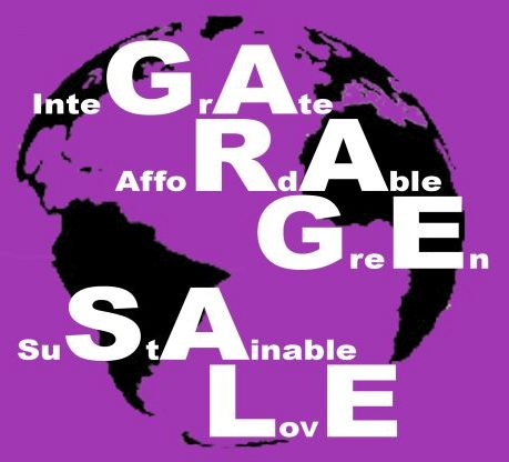 Earth hour garage sale poster.