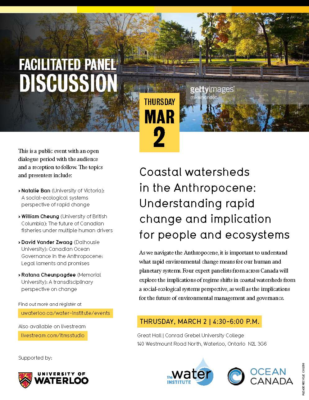Coastal watershed event poster