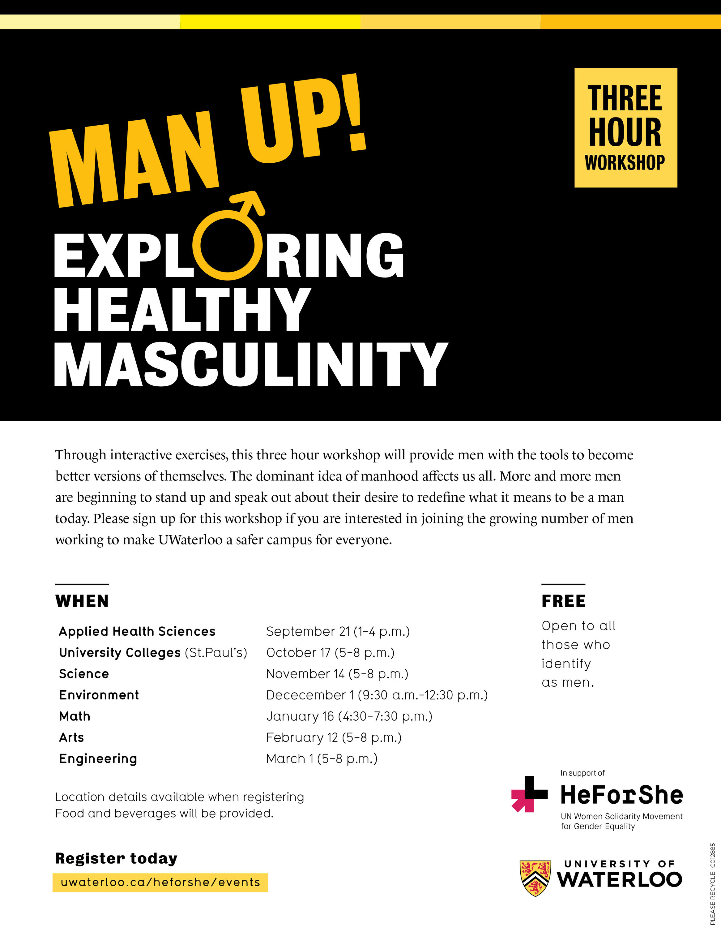 Masculinity Workshop poster