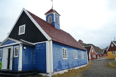 Exterior of the 18th century church on the UNESCO World Heritage Site