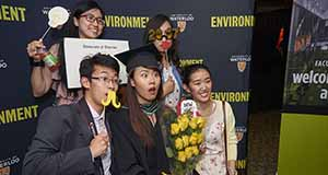 Students in photobooth