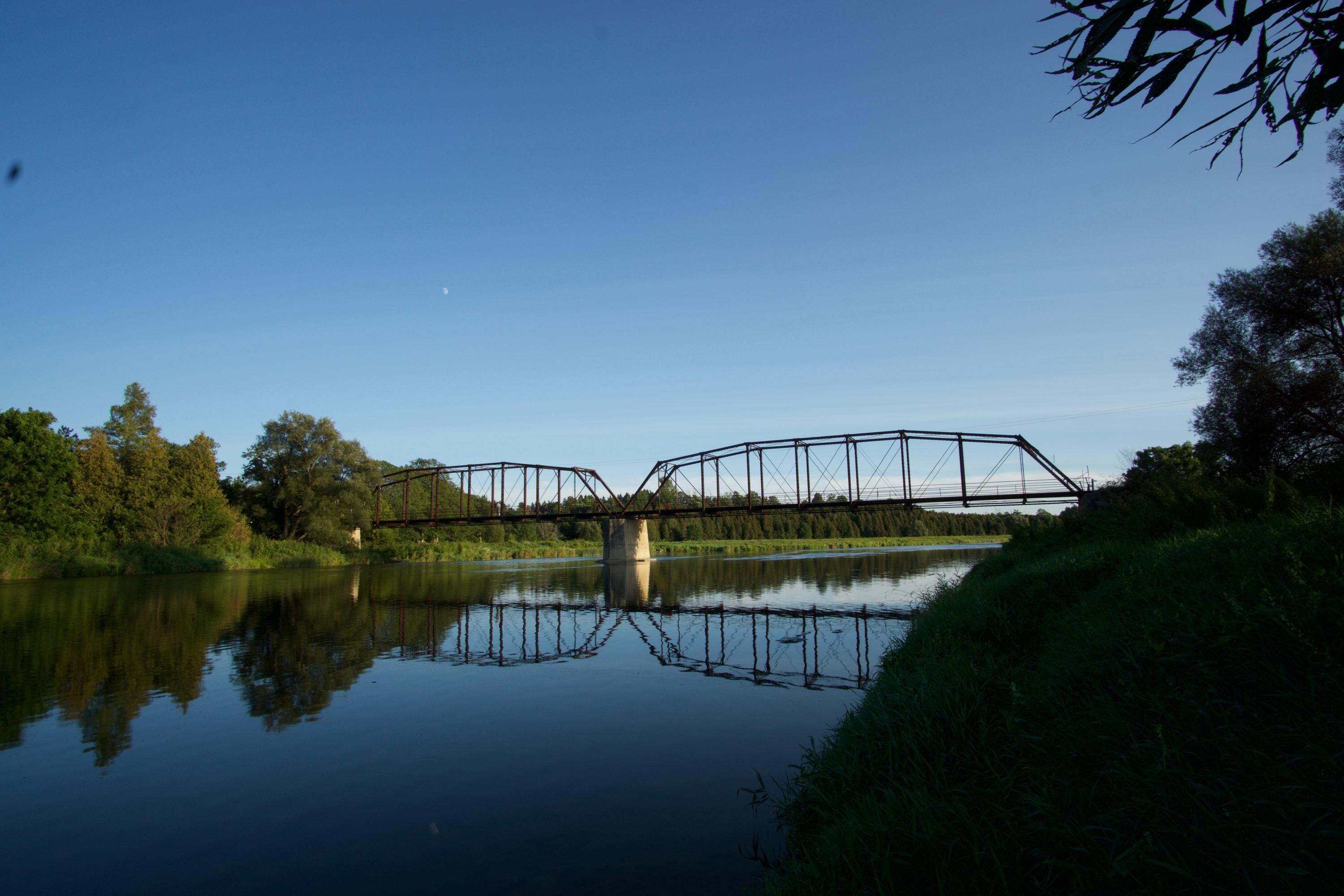 Picturesque bridge over the Grand River in Waterloo Region