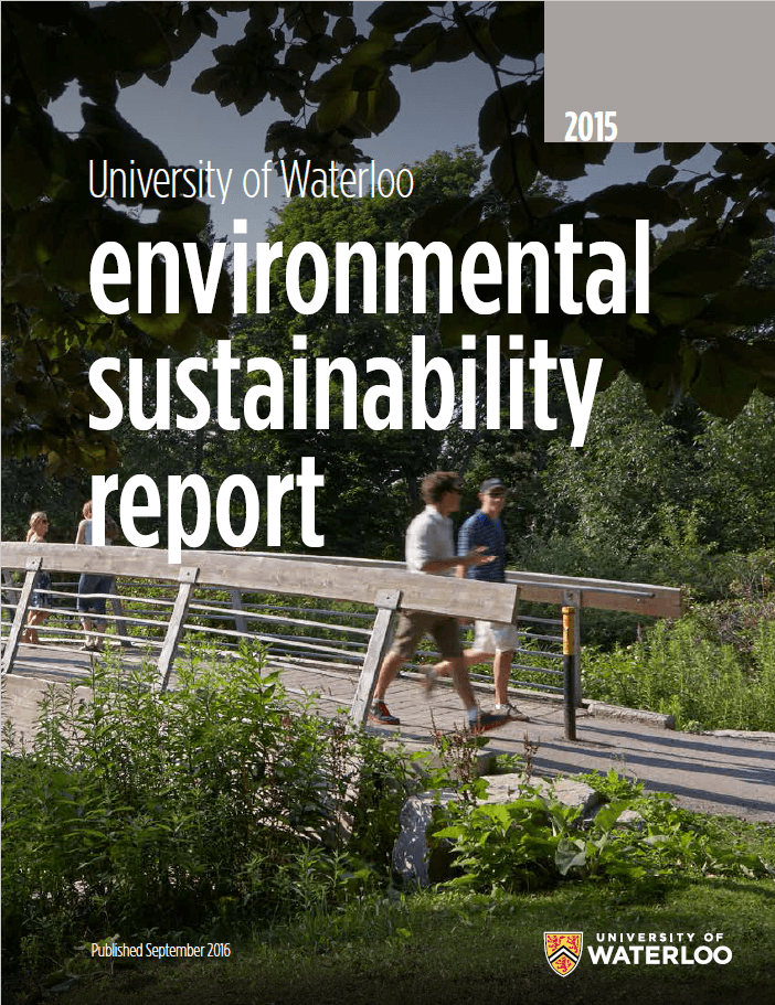 Front cover of sustainability report