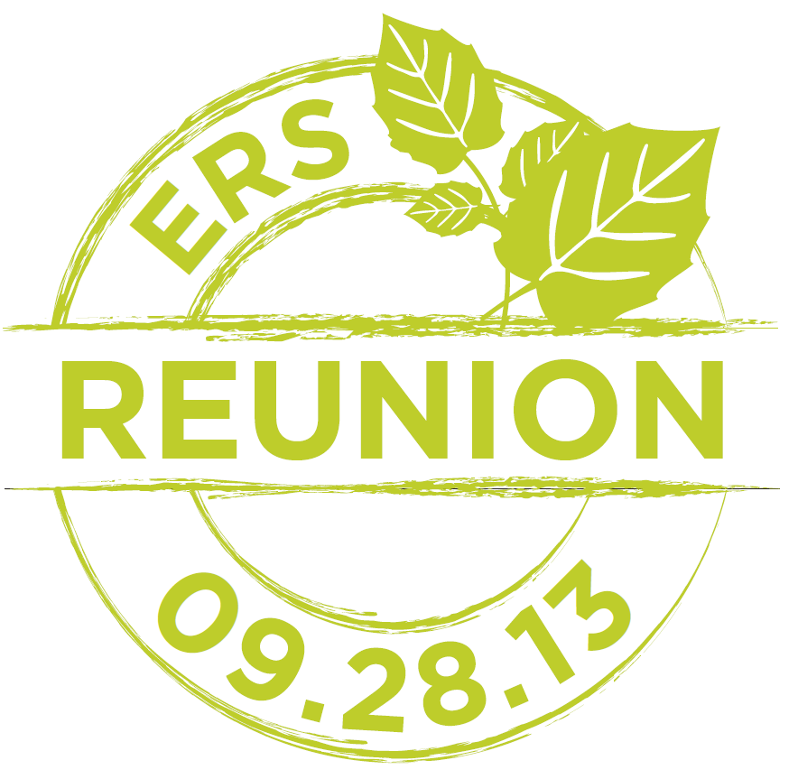 ERS REUNION writte in circle with date below (09.28.13)