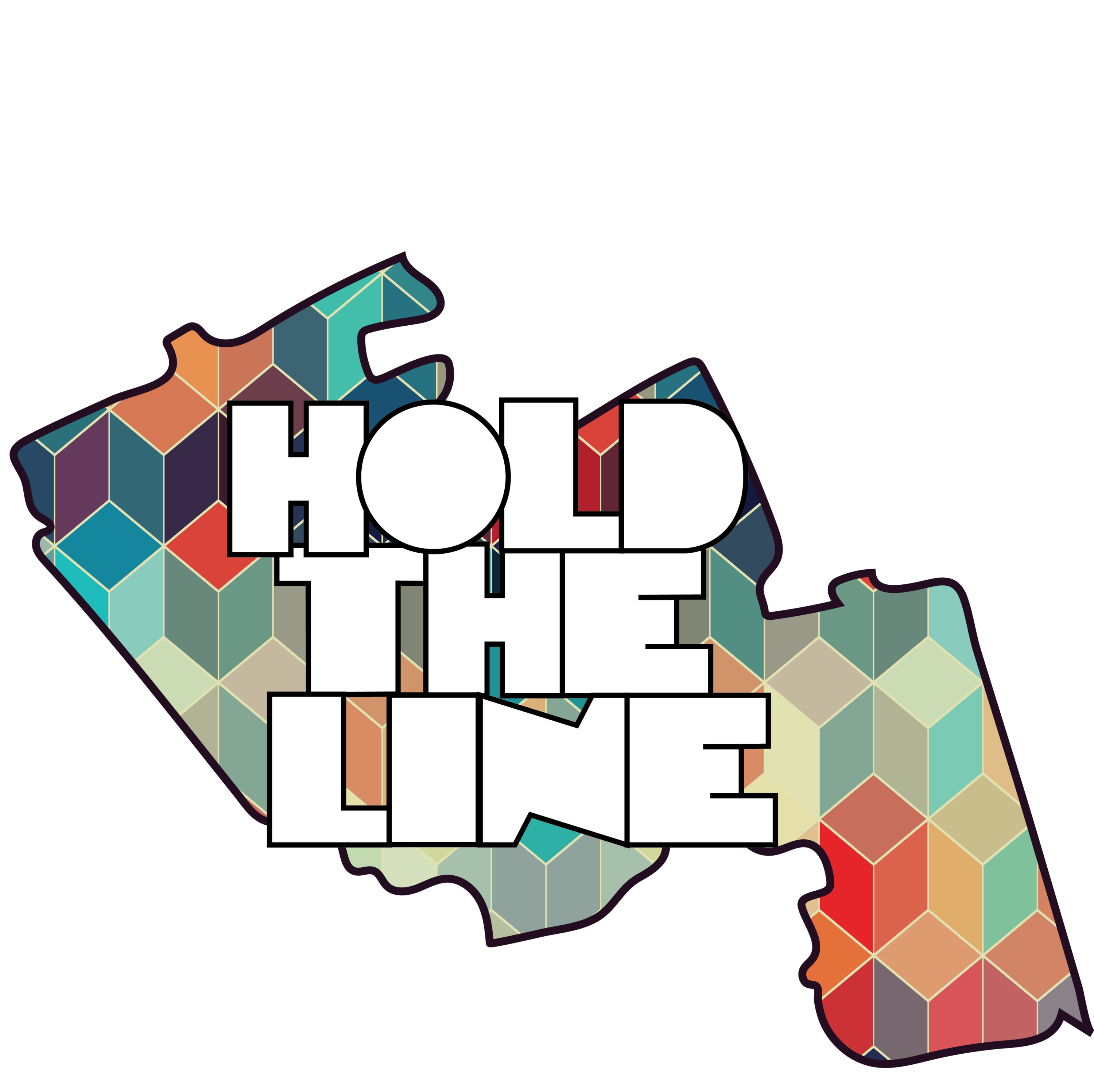 Hold the line logog