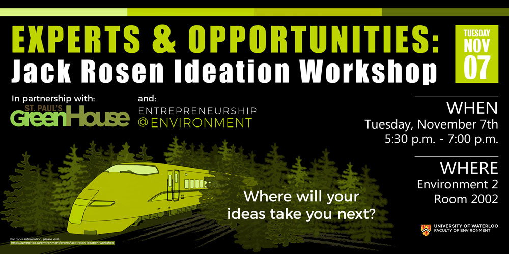 Experts and Opportunities - Jack Rosen Ideation Workshop poster.