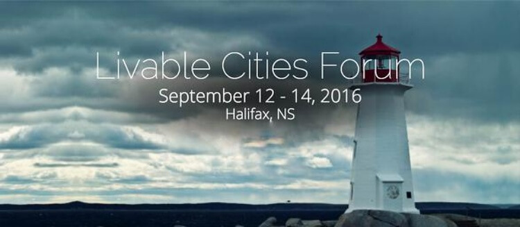 Banner for 2016 Liveable Cities Forum featuring image of lighthouse with visible smog.