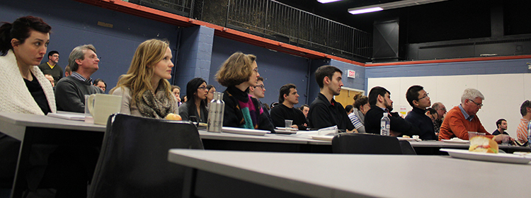 guests attending the lecture series