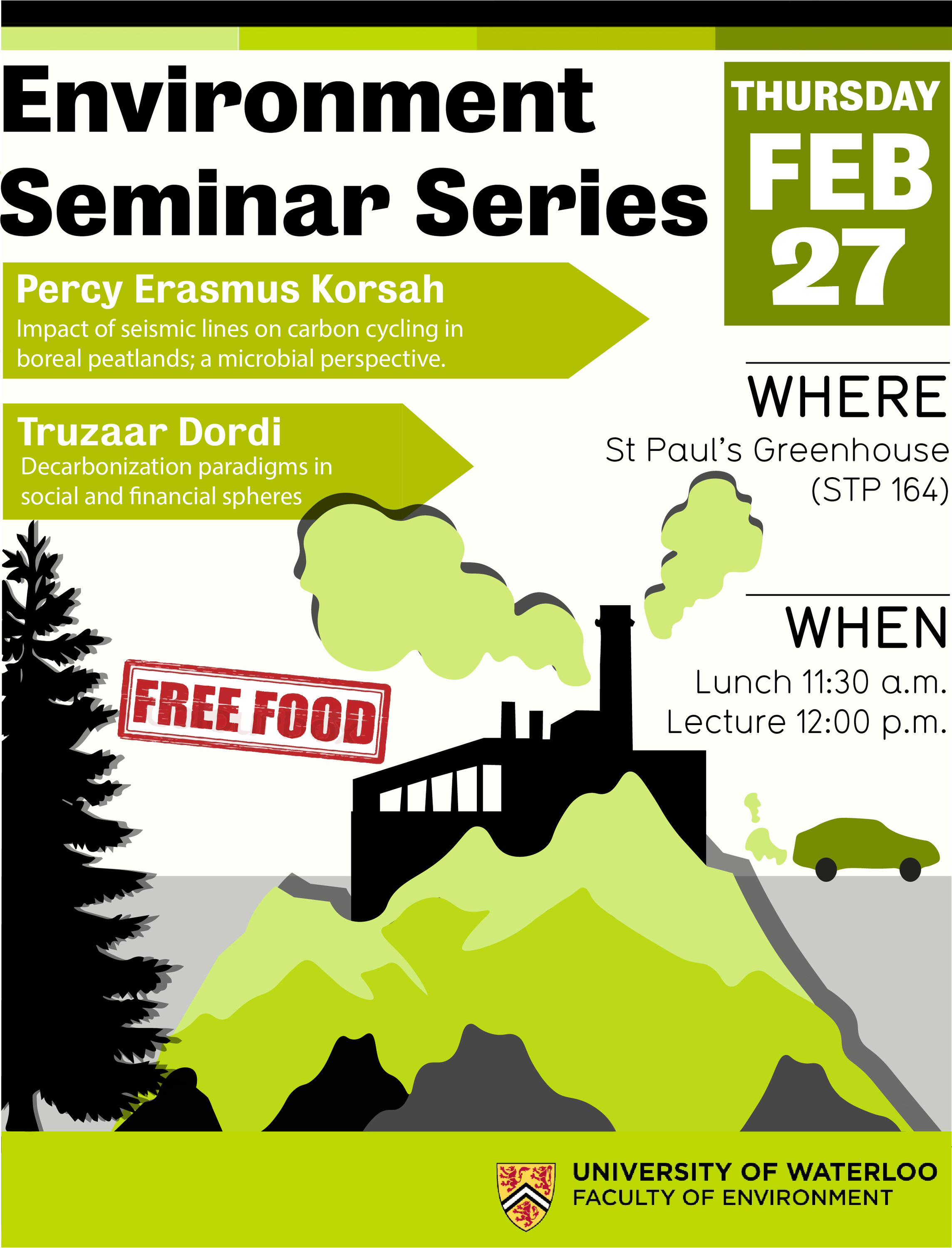 environment Seminar Series poster with information about dates/place