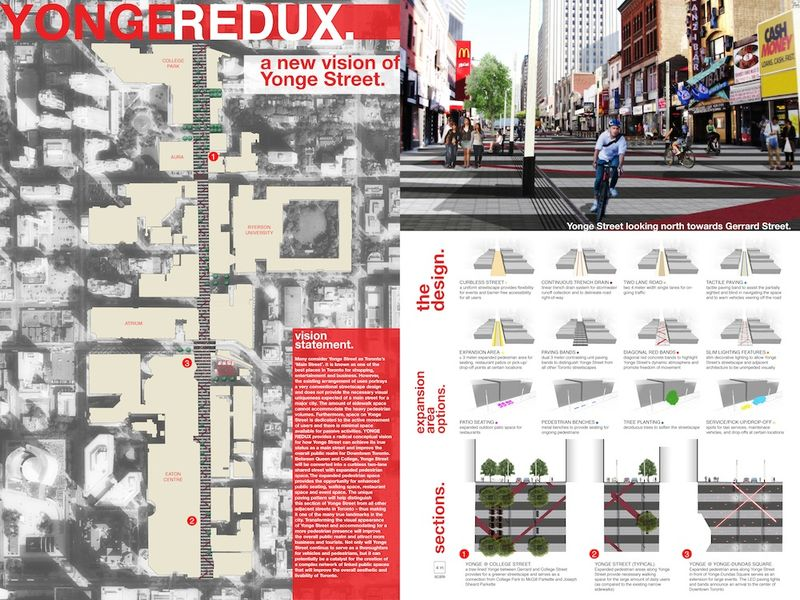 NXT City Prize document with imaginary stuff happerning on Yonge Street