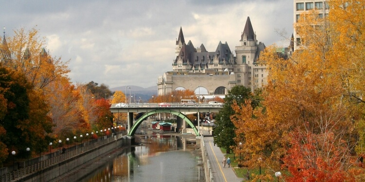 Rideau canal in fall, Ottawa