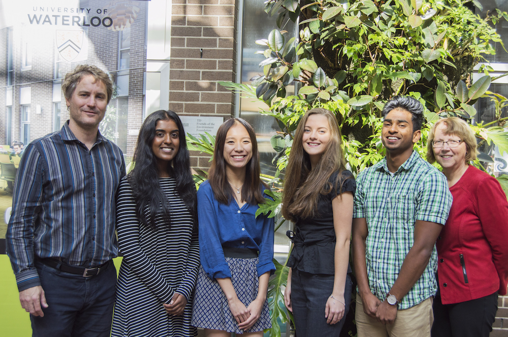 Winners of the 2016 Dean of Environment's Scholarship for Excellence