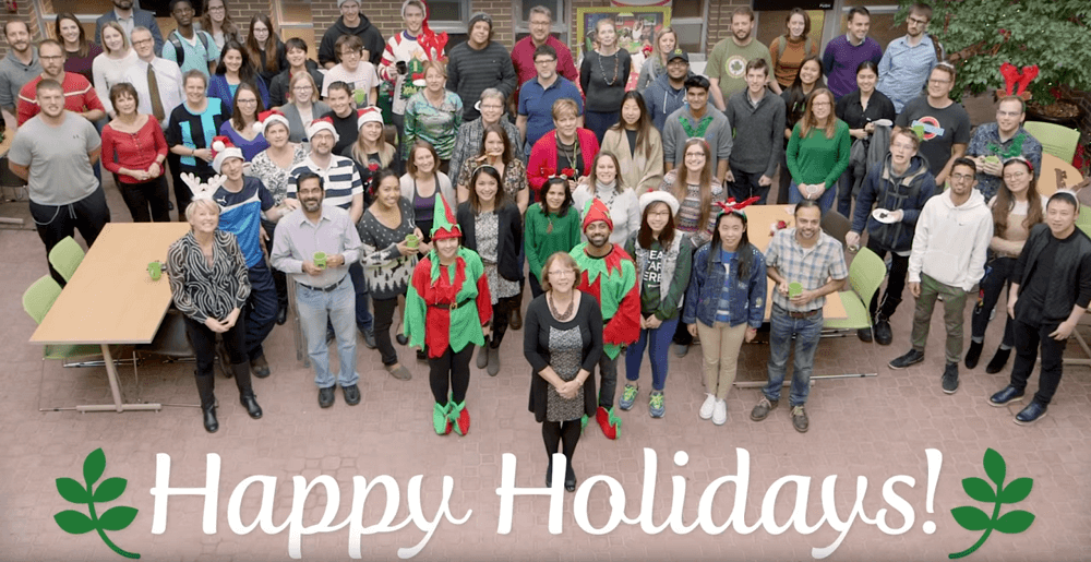 Faculty of Environment members wishing you happy holidays.