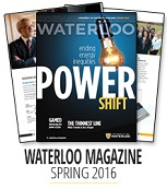 Three covers of the Waterloo Magazine.