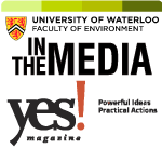 yes magazine in the media logo