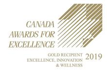 Excellence Canada 2019 Gold logo for Excellence Innovation and Wellness Standard