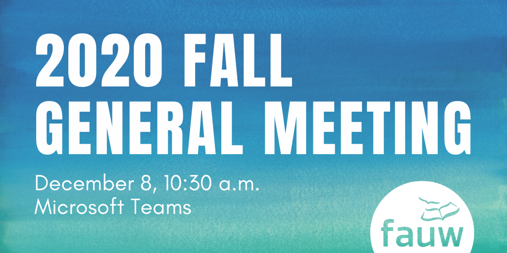 2020 Fall General Meeting