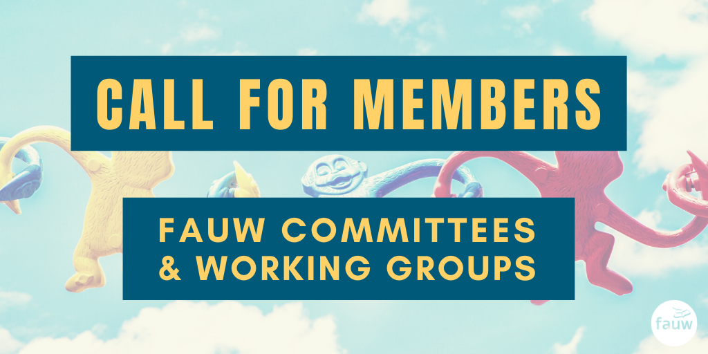 Call for members: FAUW committees and working groups.