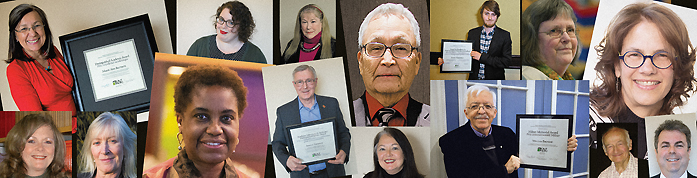 Collage of distinguished academic award recipients
