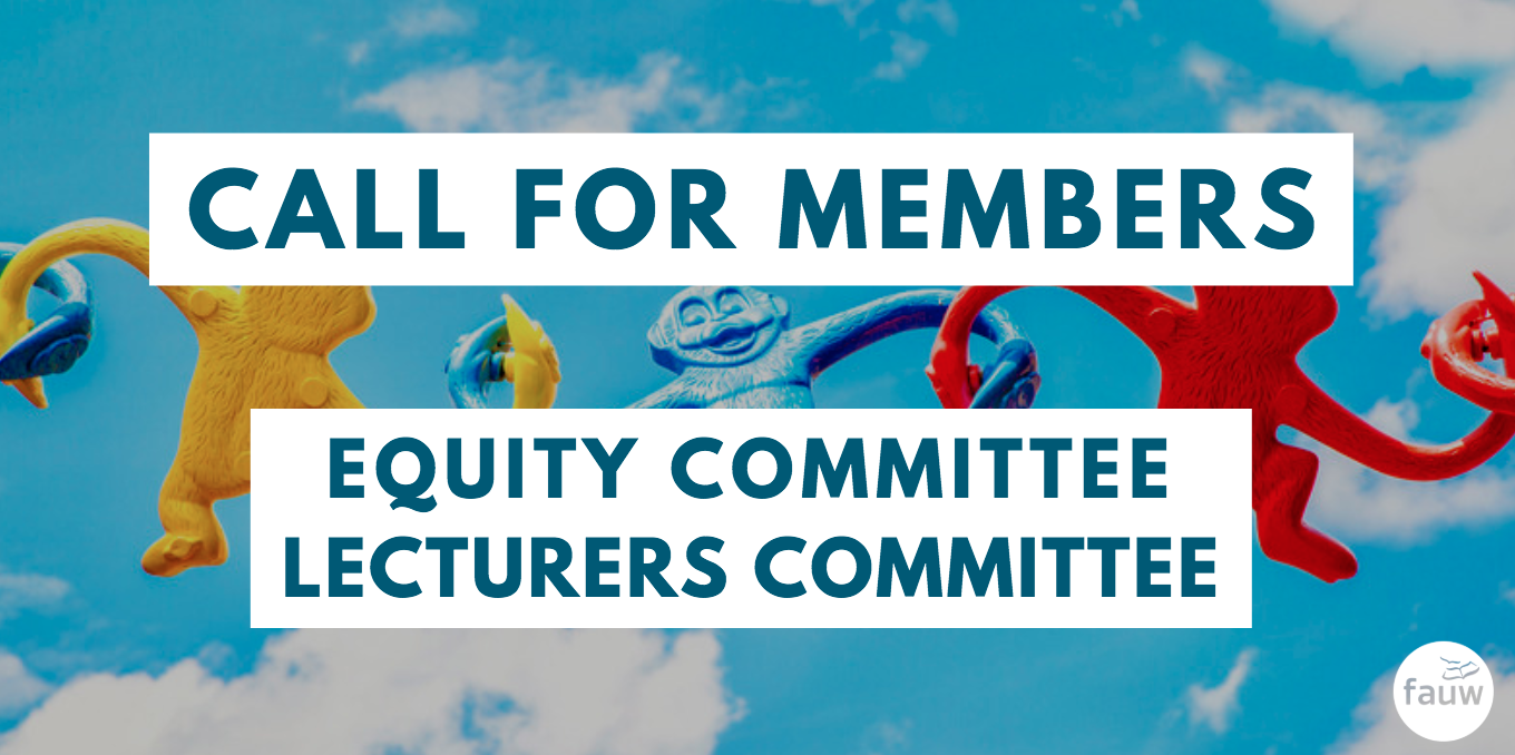 Call for members: Equity Committee, Lecturers Committee