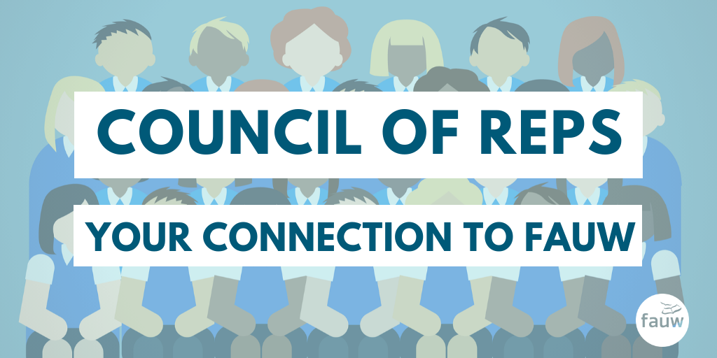 Council of Reps: Your connection to FAUW