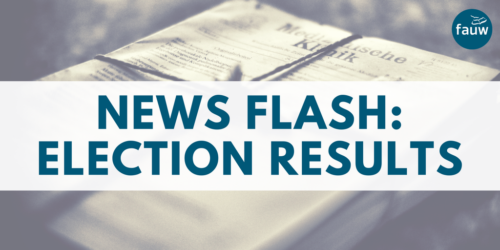 News flash: election results
