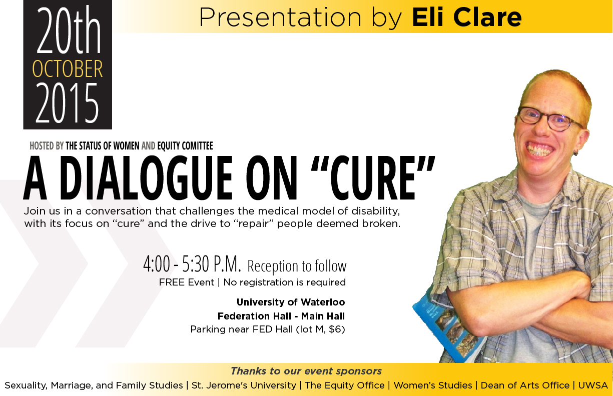 "Eli Clare: A Dialogue on ""Cure"""