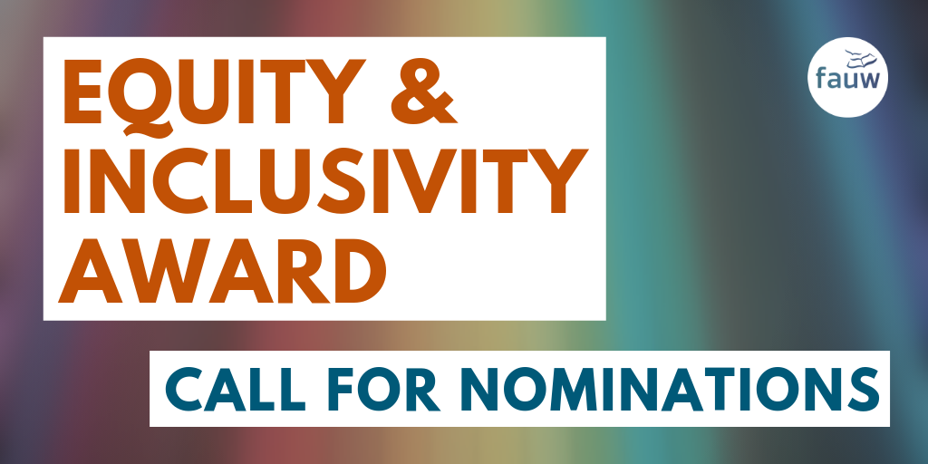 Equity and Inclusivity Award call for nominations