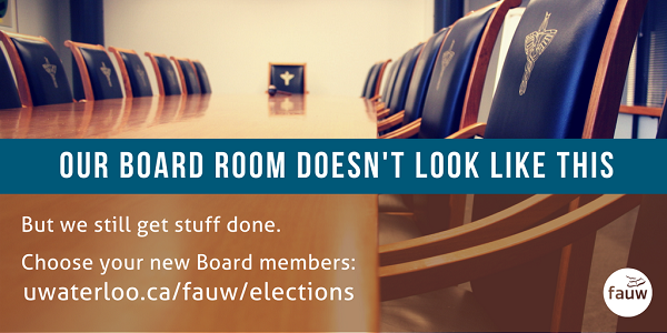 We get stuff done. Choose your new board members March 25 to April 5.