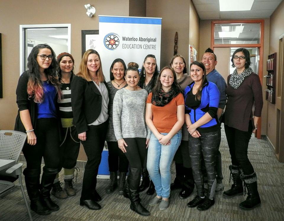 Staff and volunteers at the Waterloo Aboriginal Education Centre