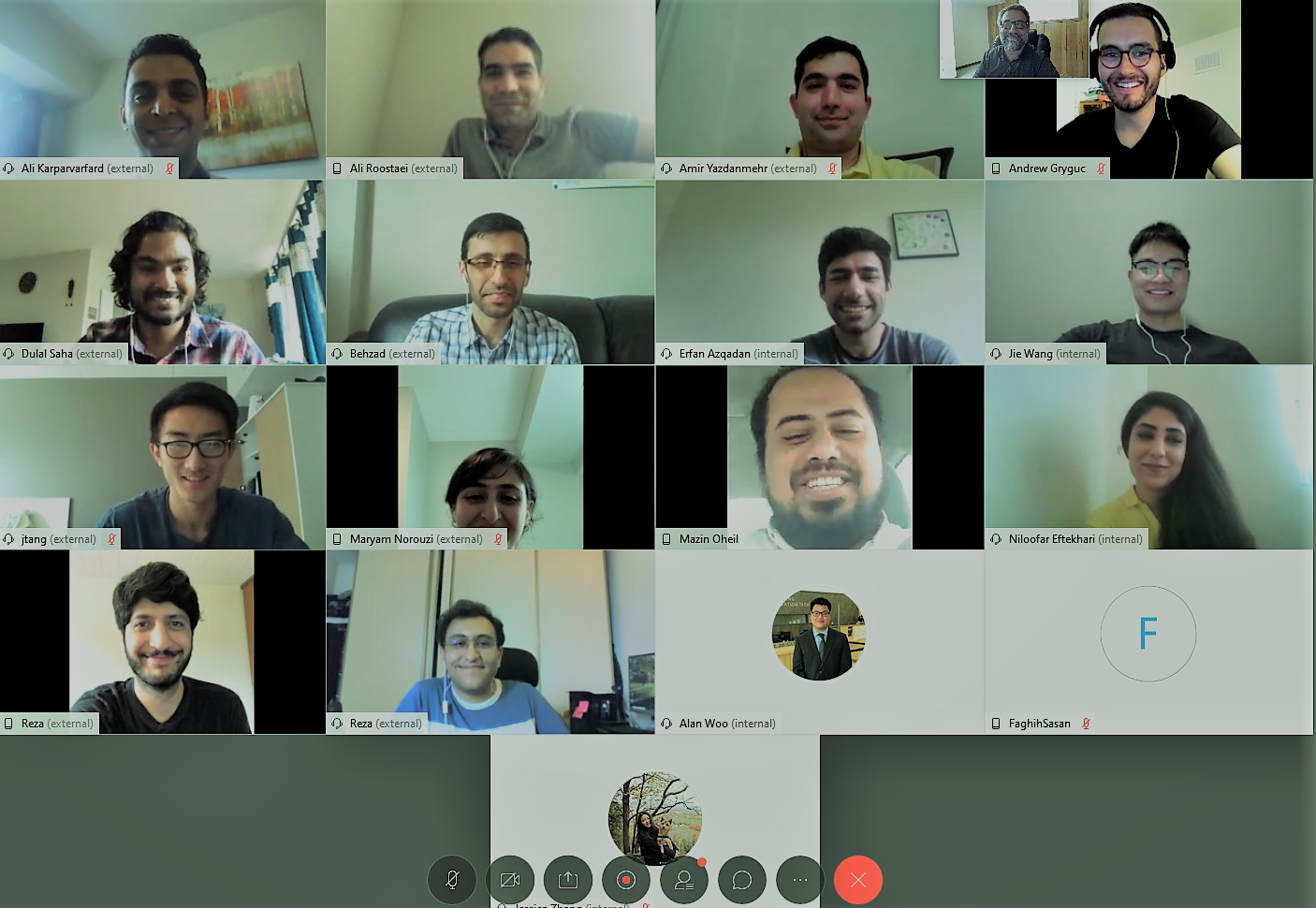 picture shown FATS Lab member video conferencing