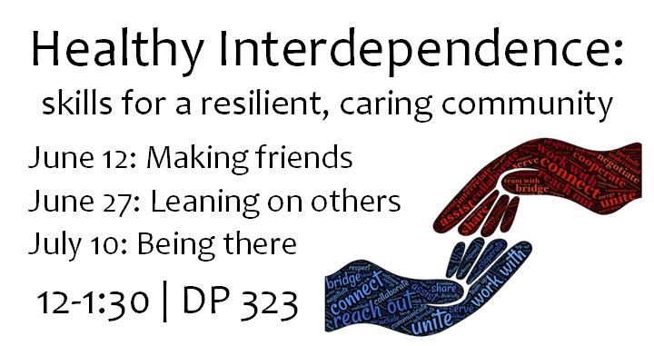 A workshop on how to lean on others for support.