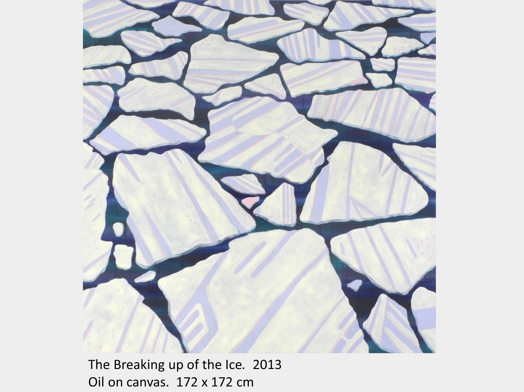Artwork by David Blatherwick. The Breaking up of the Ice. 2013. Oil on canvas. 173 x 173 cm