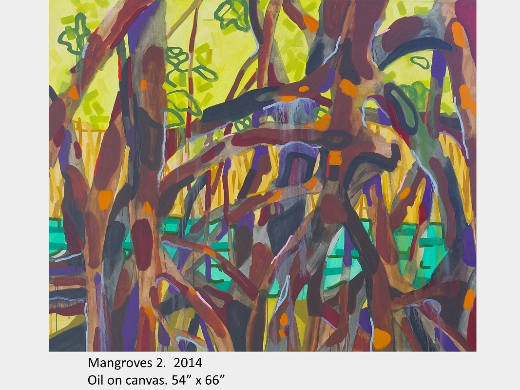 "Artwork by David Blatherwick. Mangroves 2. 2014. Oil on canvas. 54"" x 66"""