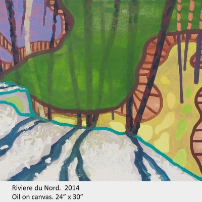 """Artwork by David Blatherwick. Riviere du Nord. 2014. Oil on canvas. 24"""" x 30"""""""