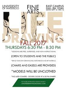 Fall 2017 life drawing poster