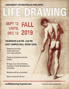 Life drawing poster for fall 2019